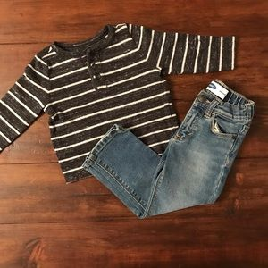 Old Navy | striped Henley | excellent condition